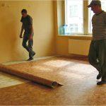 Как стелить линолеум на бетон