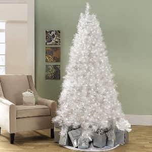 искусственная белая елка