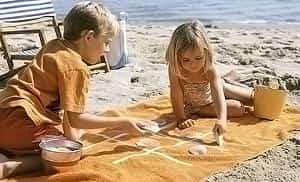 крестики-нолики на пляже