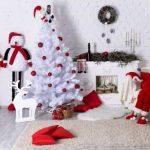 новогодняя белая елка