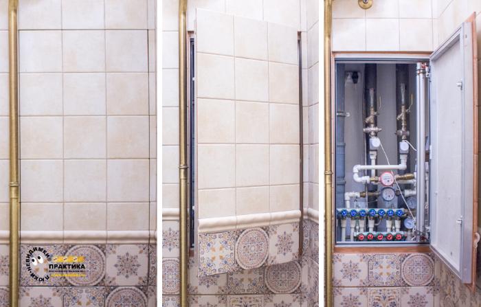 Как спрятать трубы в ванной комнате – способы маскировки.
